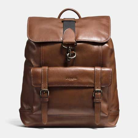 Coach leather backpack, best business travel gifts for him
