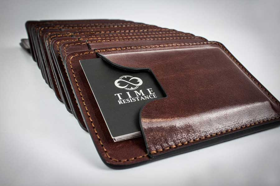 Leather business card holder, best gift ideas for men who travel for work