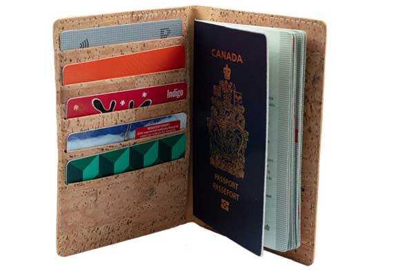 Travel gift ideas for students studying abroad, Cork passport holder, Etsy travel gifts