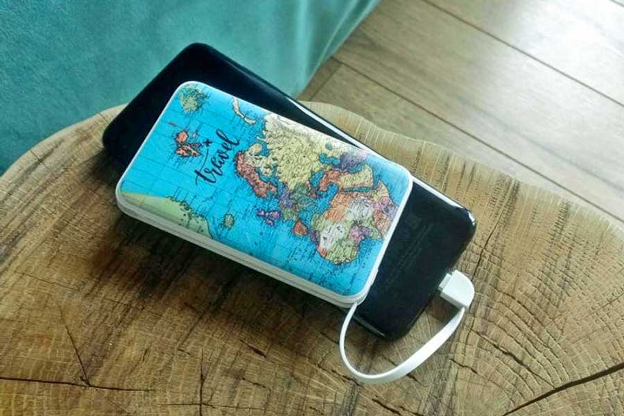 Travel gift ideas for students studying abroad, Portable cell phone charger, Etsy travel gifts