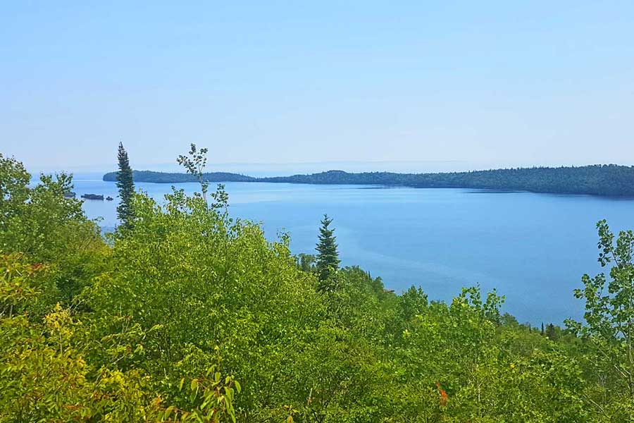 Lake Superior views from Finger Point Trail lookout at Pigeon River