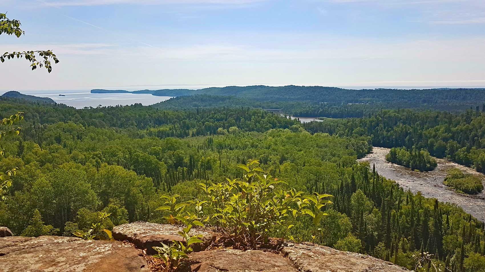 Hiking trails near Lake Superior, Pigeon River