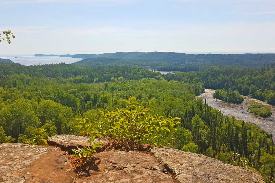 View from Pigeon River's Lookout Trail near Lake Superior