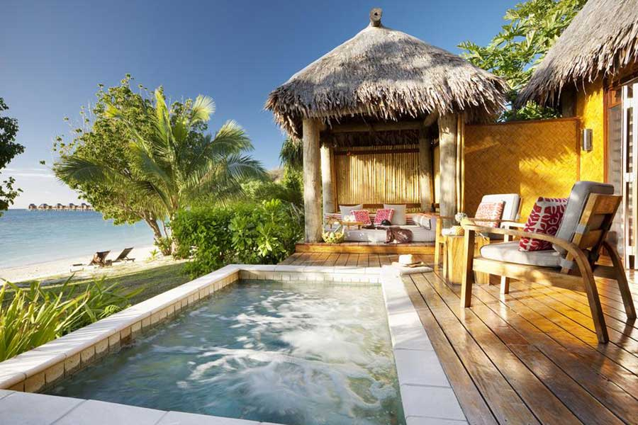 Likuliku Lagoon Resort in Fiji, Christmas vacation ideas for couples