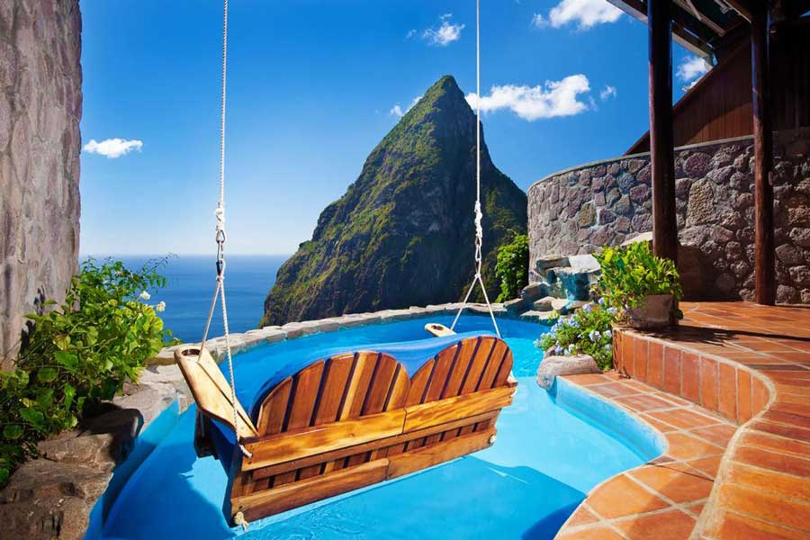 Ladera Resort at St. Lucia, Christmas vacation ideas for couples