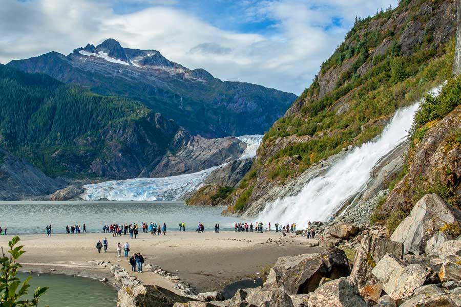 Disney cruise to Alaska, Mendenhall Glacier near Juneau