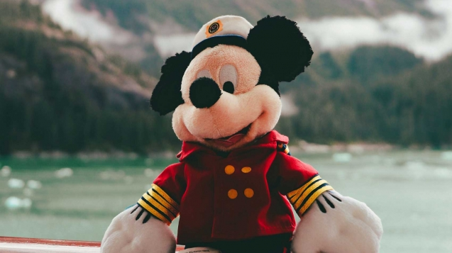 Mickey on Disney cruise to Alaska