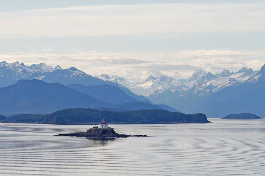 Disney cruise to Alaska passes lighthouse near Skagway