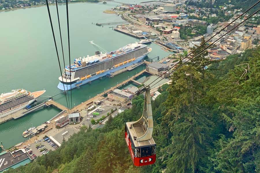 Disney cruise to Alaska, tram to Mount Juneau