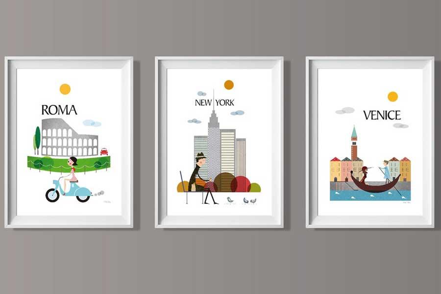 Travel-themed wall art, gits for travel lovers, Etsy TomasDesign