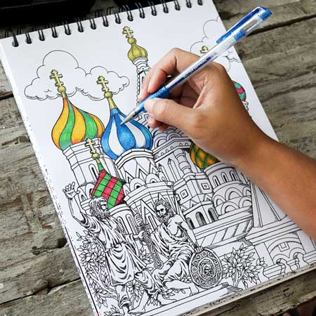Coloring book, travel gift ideas, gifts for travel lovers