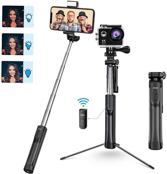 Selfie tripod stick, travel gadgets, Gifts for travel lovers