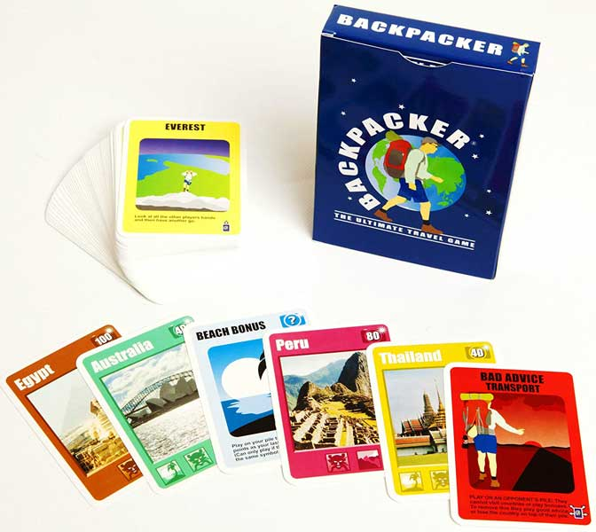 Travel-themed card game, gifts for travel lovers, travel gift ideas