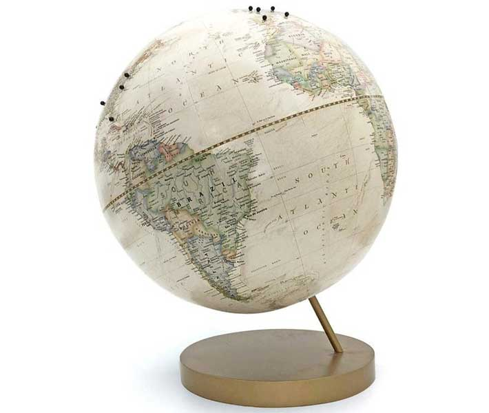 Push pin globe, gifts for travel lovers, Etsy wendygold