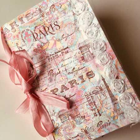 Handmade travel journal, gifts for travel lovers, Etsy ParisFleaMarket1918