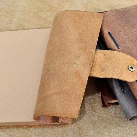 Handmade leather travel journal, gifts for travel lovers, Etsy CoverCafe