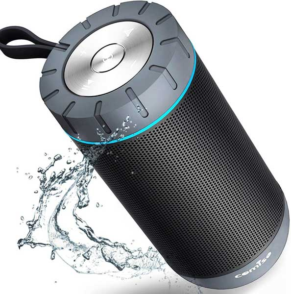 Waterproof portable speaker, small travel gadgets, Gifts for travel lovers