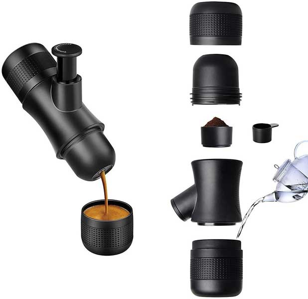 Portable coffee espresso maker, travel gadgets, Gifts for travel lovers
