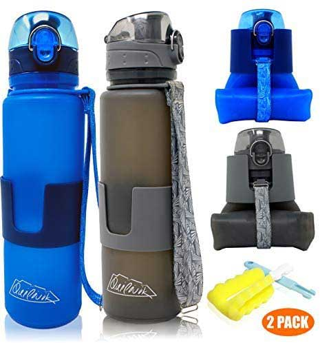 Collapsible water bottle, outdoors Gifts for travel lovers