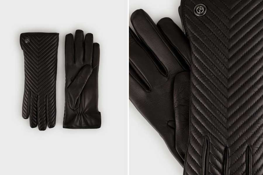 Luxury gloves for her, best luxury travel gifts for her, designer Armani