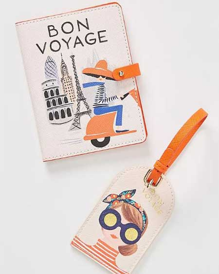 Luxury passport holders for her, best luxury travel gifts for her, Anthropologie