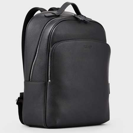 Leather backpack luxury gifts men, best luxury travel gifts for him and her, Armani