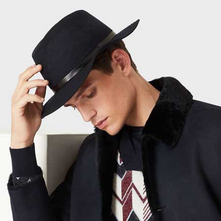 Fedora hat luxury gifts men, best luxury travel gifts for him, Armani