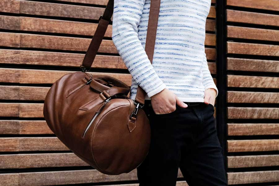 Leather duffel bag luxury gifts men, best luxury travel gifts for him and her, Etsy Capra