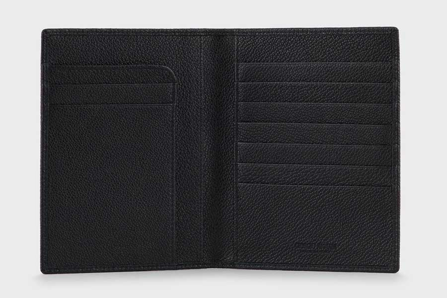 Leather passport holder luxury gifts men, best luxury travel gifts for him and her, Armani