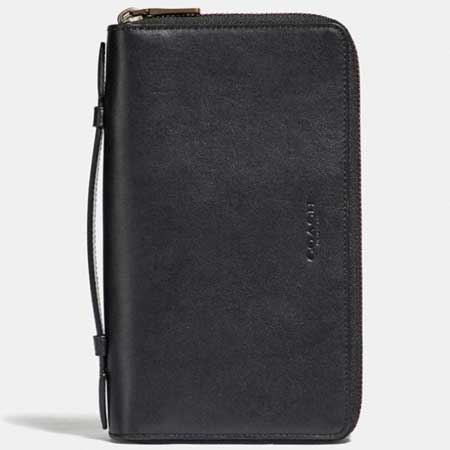 Leather passport holder luxury gifts men, best luxury travel gifts for him and her, Coach