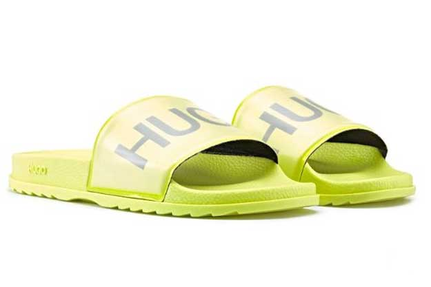 Pool sandals luxury gifts men, best luxury travel gifts for him, Hugo Boss