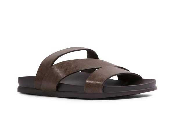 Leather sandals luxury gifts men, best luxury travel gifts for him, Steve Madden