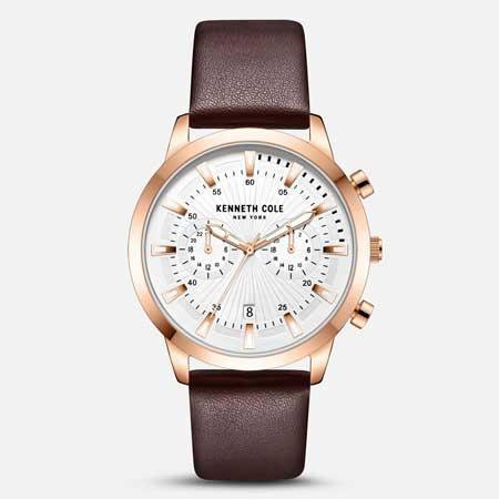 Leather watch luxury gifts men, best luxury travel gifts for him, Kenneth Cole