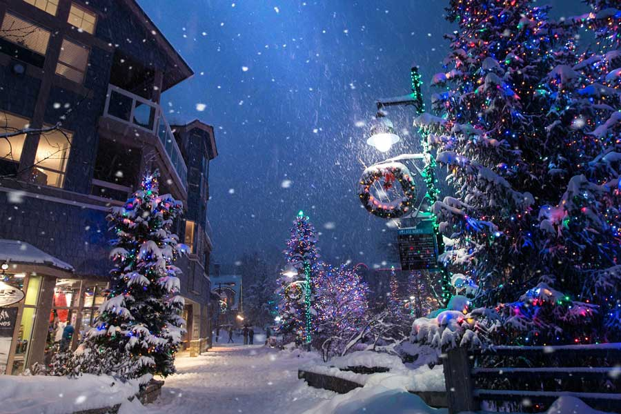 Whistler, Canada Christmas vacation ideas for couples