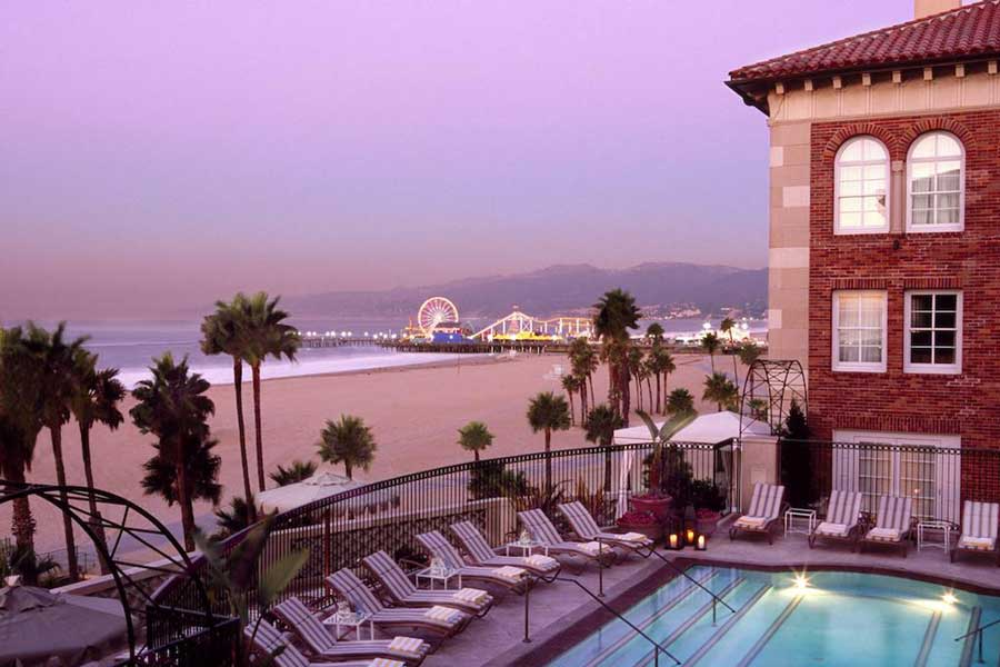 Casa del Mar, Santa Monica Beach, Los Angeles beach Christmas vacation ideas for couples in USA