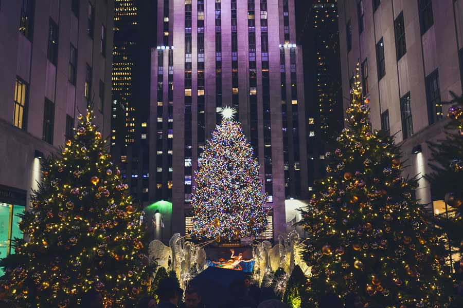 NYC Rockefeller Christmas tree, Christmas vacation ideas for couples in USA