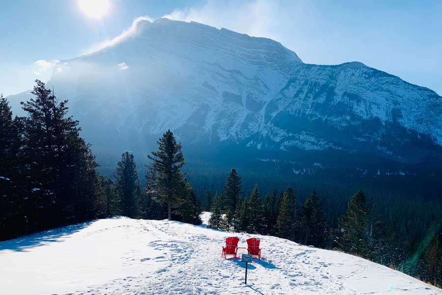 Winter in Banff Canada Christmas vacation ideas for couples