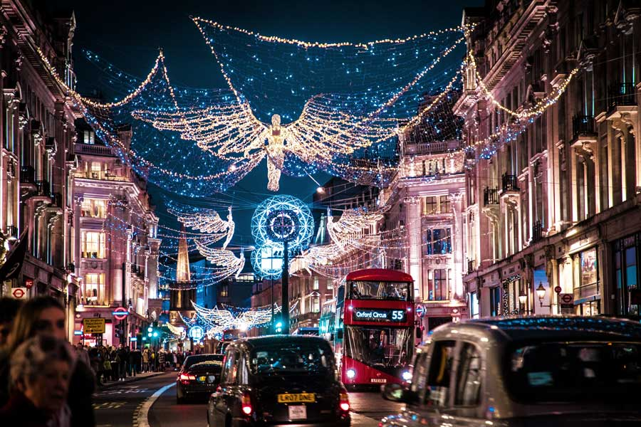 London England Christmas vacation ideas for couples in Europe