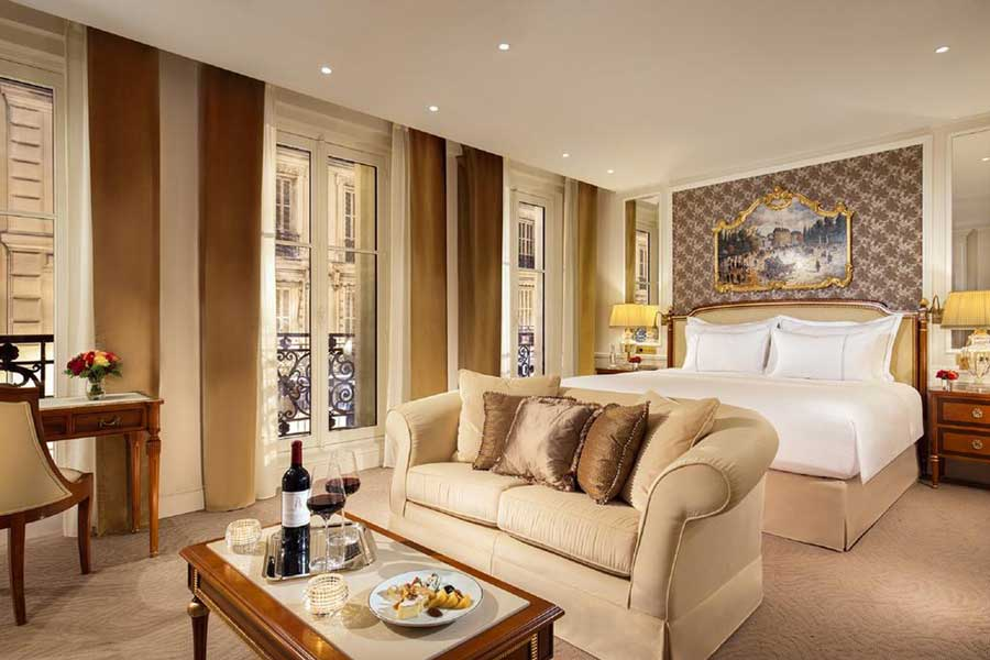 Hotel Splendid Royal Paris, luxury Christmas vacation ideas for couples in Europe