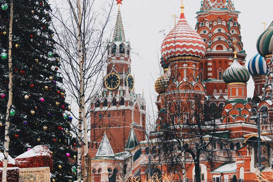 Moscow Christmas vacation ideas for couples in Europe