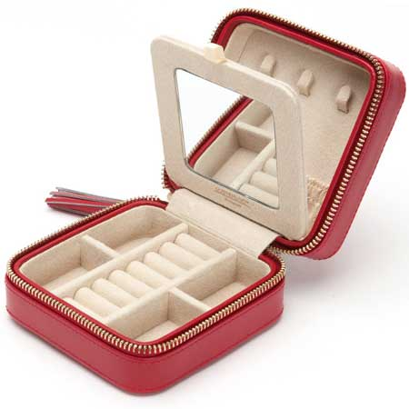 Travel jewelry case, small jewelry box, WOLF