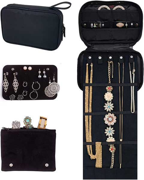 Travel jewelry organizer, Pink Larus