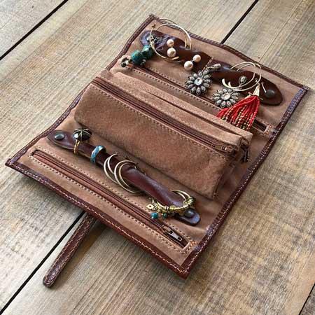 Travel jewelry roll organizer, Etsy FlotoBags