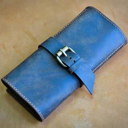 Leather travel watch roll organizer, Etsy BroColors Design