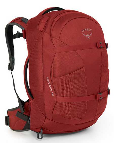 Day hiking pack, carry-on bag, Osprey Farpoint 40 Men's Backpack for day hiking