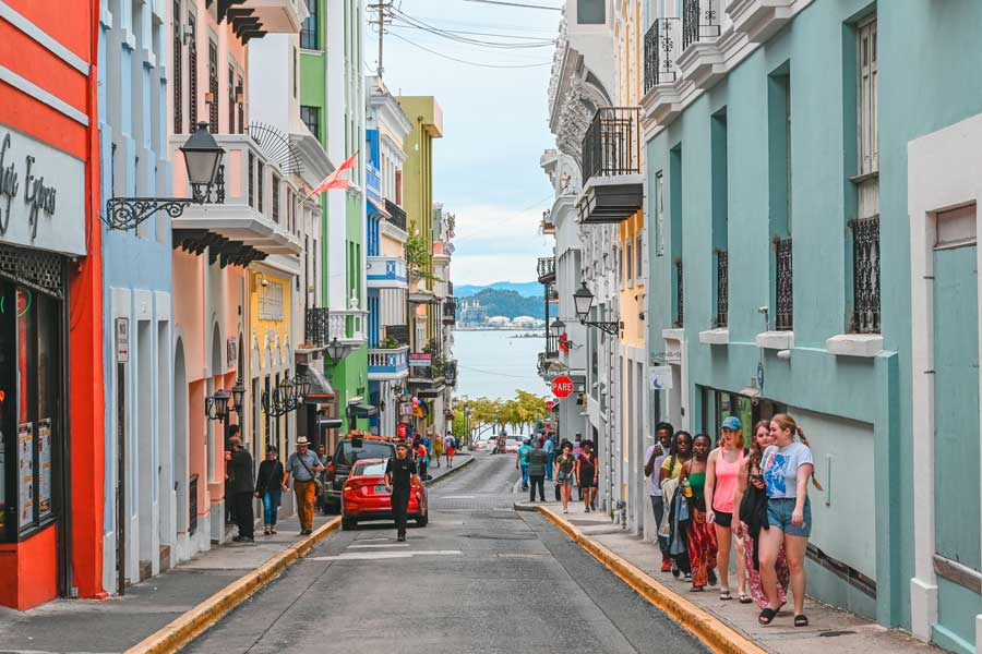 Disney cruise Eastern Caribbean, Eastern Caribbean cruises, Puerto Rico street