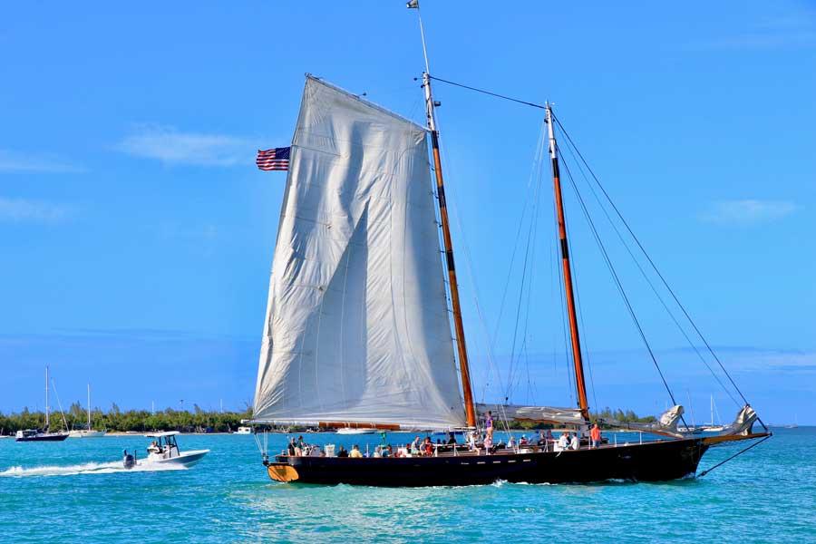Sailboat at Key West Florida, Disney cruise Bahamas