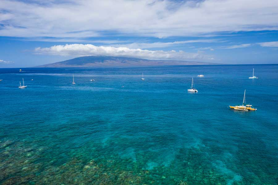 Sailboats at Lahaina Maui Hawaii, areas to stay in Maui