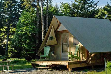 Fundy National Park glamping, Romantic getaways in Eastern Canada, best hotels in New Brunswick, Atlantic Canada