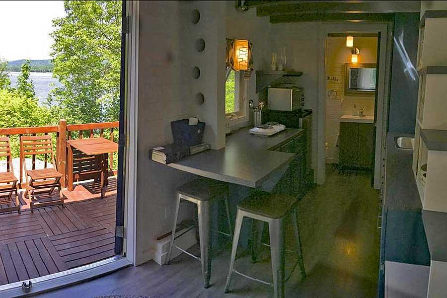 Romantic getaways in Eastern Canada, best hotels in Cape Breton Island Nova Scotia, Atlantic Canada, tiny house, Tiny Loon